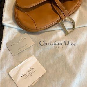 Dior Bags - Vintage Christian Dior Saddle Tan Leather Bag.